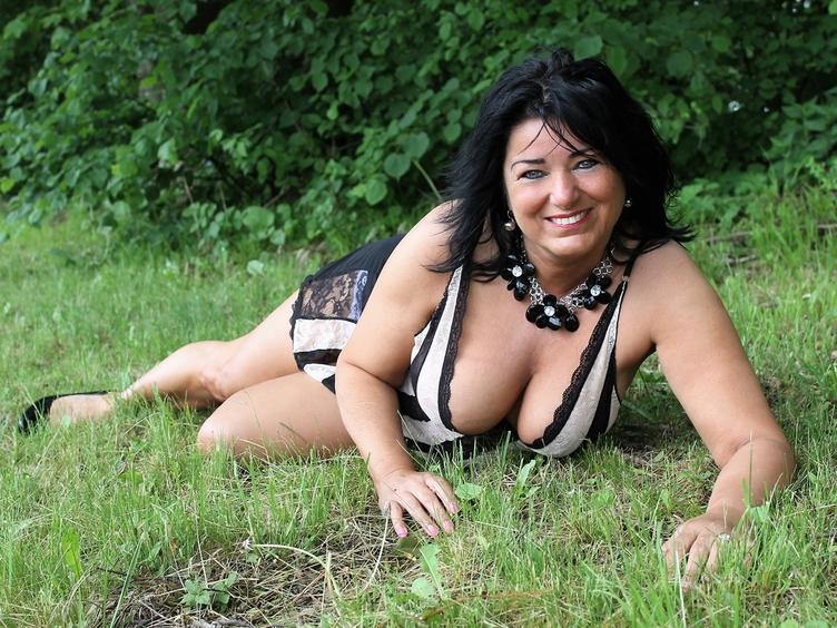 sexy mature woman with a beautiful smile